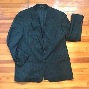 BURBERRY 100% Pure Wool Pinstripe Blazer 44L